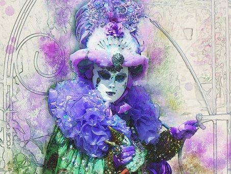 Italy, Venice, The Carnival Of Venice, Masks, Holiday