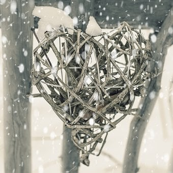 Heart, Winter, Snow, Fence, Ice, Wintry, Loyalty, Cold