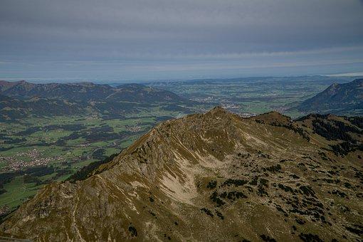 Oberstdorf, Foghorn, Valley, Mountains, Alpine, Allgäu