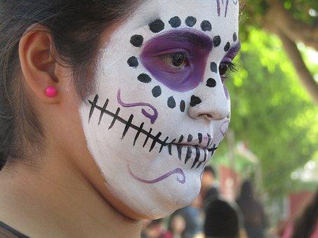 Mexico, Diademuertos, Party, Catrina