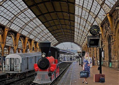 Railway Station, Hbf, Rail Traffic, Regional Traffic