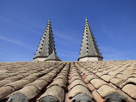 Roof, Pinnacles, Tiles, Architecture, Religion
