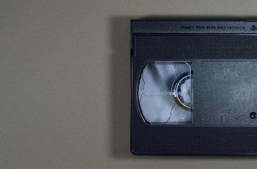 Plastic, Technology, Video, Tape, Movie, Medium, Retro