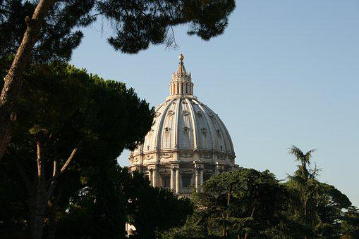Rome, Italy, The Vatican, Trees, Architecture