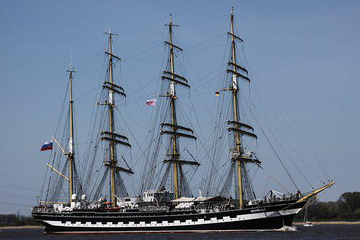 Sailing Vessel, Water, Four Master, Boot, Seafaring