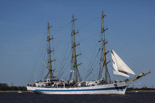 Sailing Vessel, Water, Three Masted, Boot, Seafaring