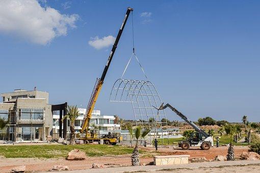 Construction Site, Working, Development, Cranes
