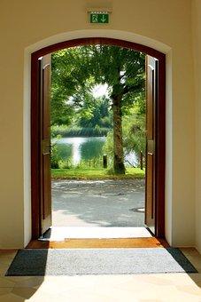 Output, Input, Light Beam, Sunlight, Garden, Open, Door