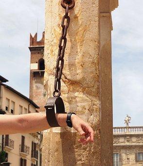 Verona, Italy, Punishment, Penalty, Shackles, Iron