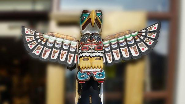Totem Pole, Alaska, Indian Art