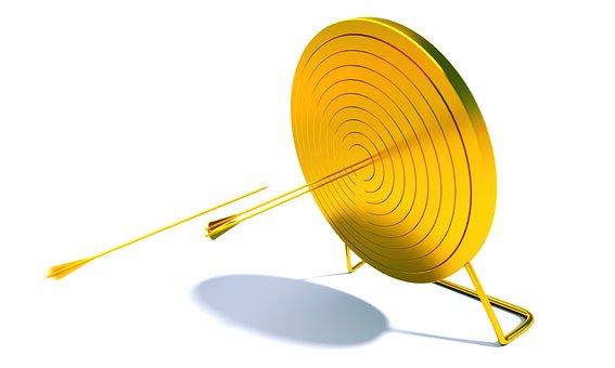 Arrow, Target, Bullseye, Goal, Aim, Circle, Center, Win