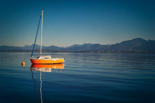 Chiemsee, Water, Lake, Landscape, Nature, Bavaria, Sky