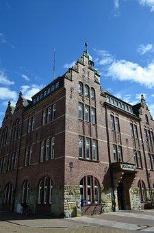 Borkum, Island, Town Hall, Building, North Sea