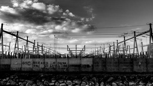 Central Electric, Electricity, Cable, Power, Danger