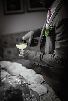 Champagne, Drink, Wedding, Formal, Flower, Alcohol