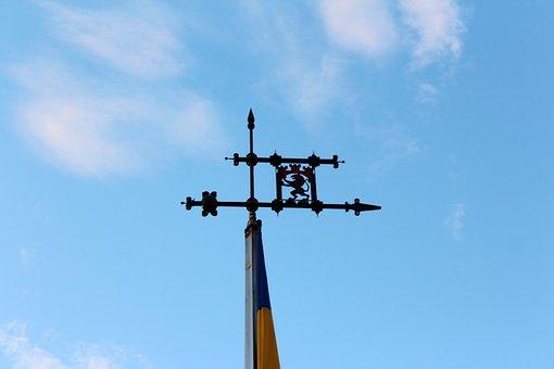 Flag Pole, Flag, Coat Of Arms, Symbol, The Mast, Lions