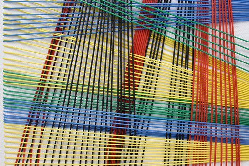 Abstract, Wires, Cords, Colours, Art, Connections