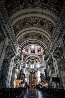 Salzburg, Dom, Austria, Salzburg Cathedral, Church
