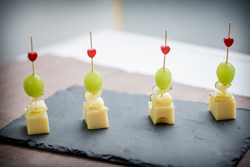 Finger Food, Cheese, Grapes, Healthy, Buffet, Catering