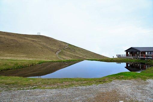 Monte Tamaro, Mountain, Hill, Lake, Puddle, Pond, Water