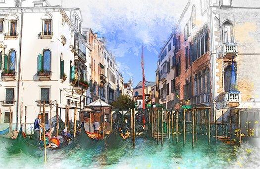 Italy, Venice, Tourism, Travel, Quay, Showplace