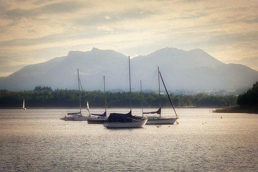 Chiemsee, Sailing Boats, Water, Lake, Leisure, Nature