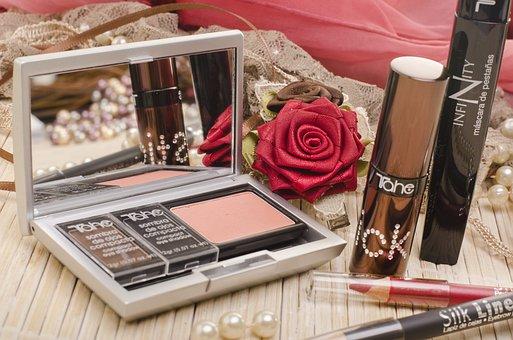 Makeup, Beauty, Woman, Compact, Female, Lipstick, Cilia