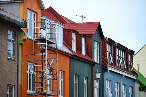 Iceland, Window, Street, House, Building, Old, Colors