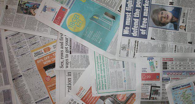 Newspaper, Background, Layout, Banner, Page, Paper