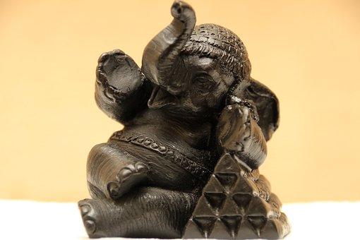 Zen, Elephant, Sculpture, Decoration