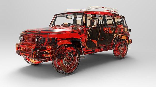 Toyota Fj Cruiser, All-terrain Vehicle, Off Roader