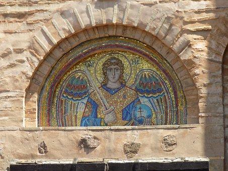 Mosaic, Vydubychi Monastery, Vydubychi, Michael Church