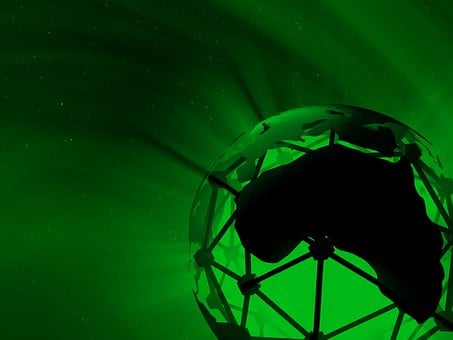 Green, Planet, Futuristic, Design, Background, Abstract