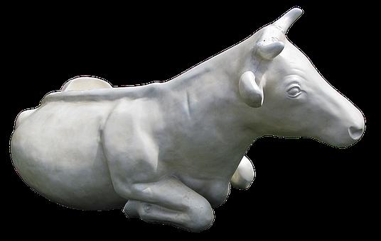 Cow, Cattle, Sculpture, Plastic, Artificial, Garden