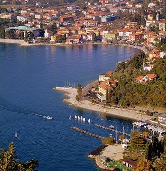Lake, Landscape, Torbole, Garda, North, Costa, Boat