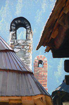 Chimneys, Shingles, Roof, Bricks, The People's