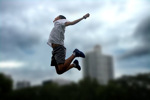 Jump, Playing, Fun, Happy, Joy, Child, Game