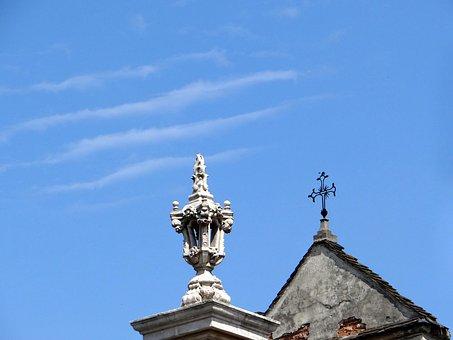 Church, Bernardine, The Roof Of The, Sky, Blue