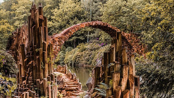 Bridge, Romance, Fantasy, Romantic, Water, Architecture
