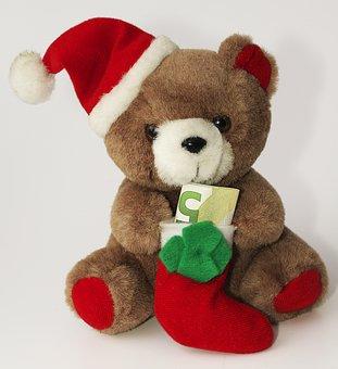 Furry Teddy Bear, Nicholas, Euro, Bear, Gift, Cute, Joy