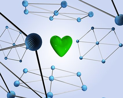 Green, Heart, Technology, Abstract, Love, Care, Healthy