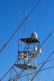 Charter Boat, Flying Bridge, Equipment, High Up, Steer