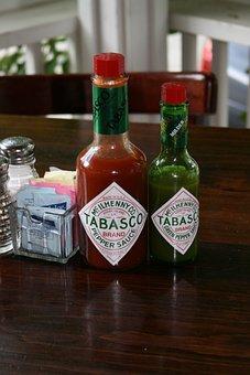 Tobasco, Hot Sauce, Cayenne, Chili, Liquid, Hot, Spicy