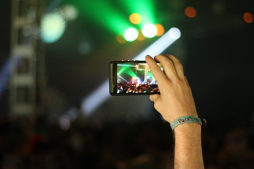 Concert, Smartphone, Mobile Phone, Light, Photo