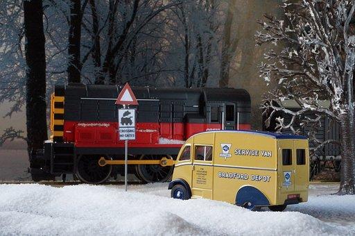 Model Train, Model Railway, Winter, England, Gb