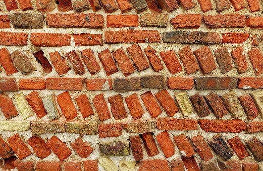 Brick, Wall, Old, Mortar, Texture, Pattern, Red