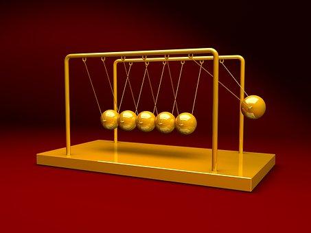Newtons, Cradle, Physics, Pendulum, Metal, Balance