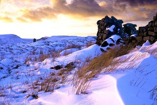 Snow, Moorland, Winter, Scenic, Wilderness, Frozen