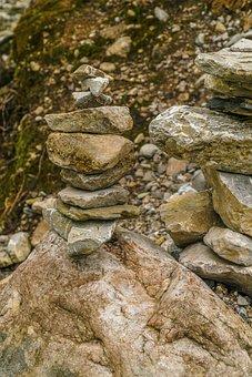 Foghorn, Oberstdorf, Stone Pyramids, Stones, Mountains
