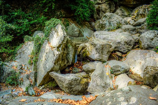 Stream, Rock, Nature, Landscape, Scenery, Pelio, Greece